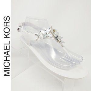Michael Kors Lola Jelly Thong PVC Sandal White